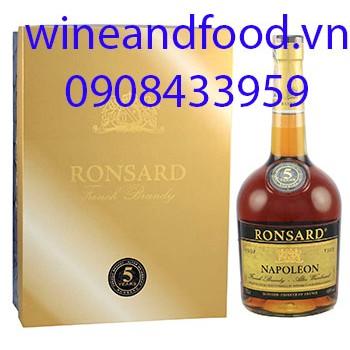 Rượu Brandy Ronsard hộp quà