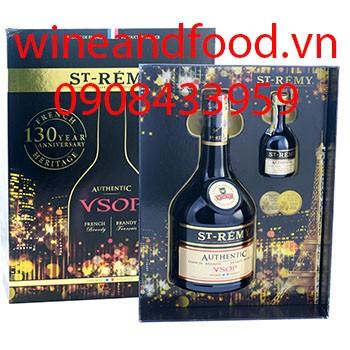 Rượu Brandy St Remy VSOP hộp quà