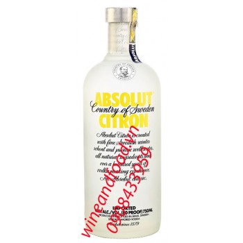 Rượu Vodka Absolut Citron 750ml