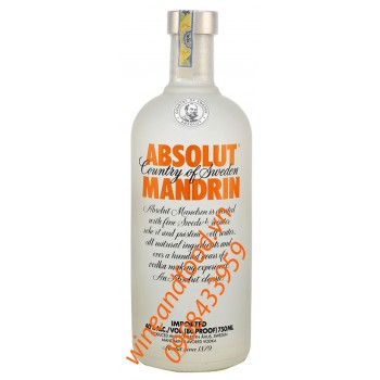 Rượu Vodka Absolut Mandrin 750ml