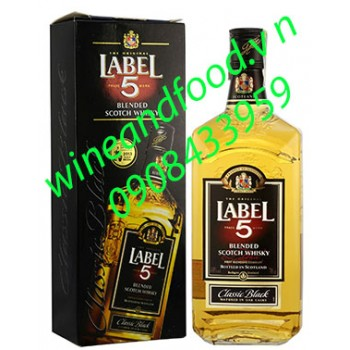Rượu Label 5 Classic Black 700ml