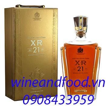 Rượu Whisky XR 21 hộp da
