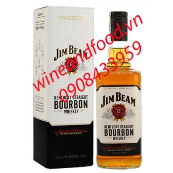Rượu Jim Beam Bourbon Whiskey 750ml