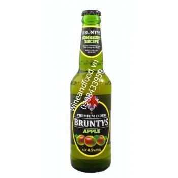 Bia trái cây hương táo Bruntys 330ml