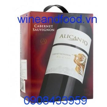 Rượu vang Alicanto 3l