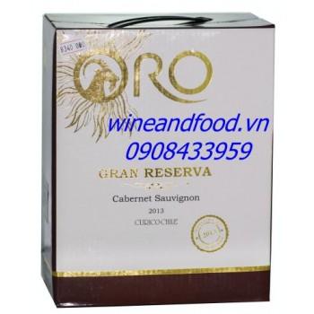 Rượu vang bình Oro Gran Reserva 3l