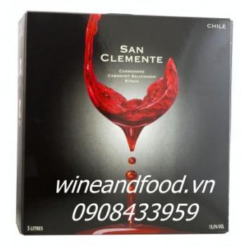 Rượu vang bình San Clemente 5l