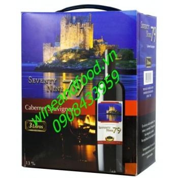 Rượu vang bình Seventy Nine 79 3l