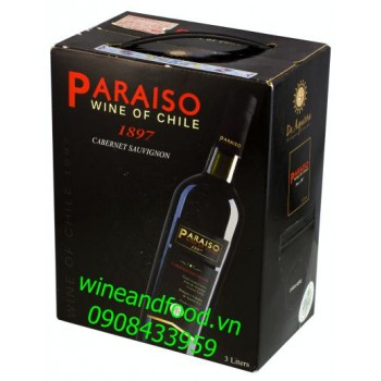 Rượu vang Paraiso Cabernet Sauvignon 3l