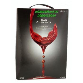 Rượu vang San Clemente 3l