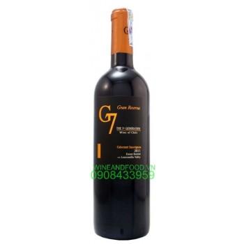 Rượu vang G7 Gran Reserva Cabernet Sauvignon