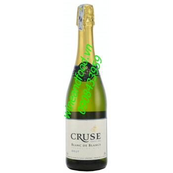 Rượu vang nổ Cruse Blanc de Blancs 750ml
