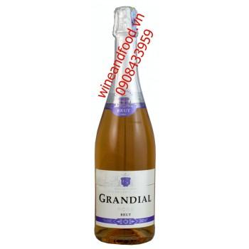 Rượu vang nổ Grandial Rose Brut 750ml