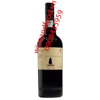 Rượu Tawny Porto Ten Years Old Sandeman 75cl