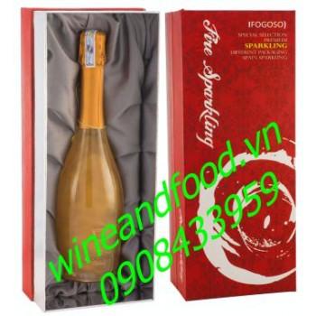 Rượu vang nổ Fogoso hộp quà 750ml