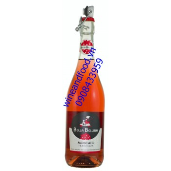 Rượu vang Bella Bellina Moscato dâu 750ml