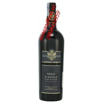 Rượu vang Nero Davola Santi Nobile 750ml
