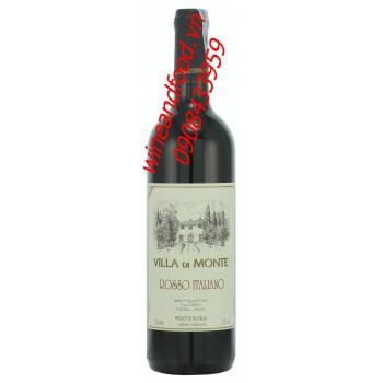 Rượu vang Villa di Monte Rosso Italiano 750ml