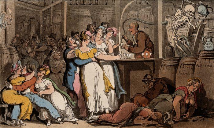 Tầng lớp thượng lưu Anh thế kỷ 18 thưởng thức rượu Gin