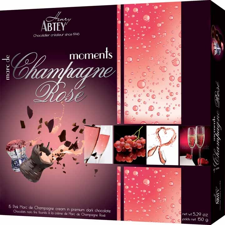 Socola rượu Abtey Moments Rose Champagne