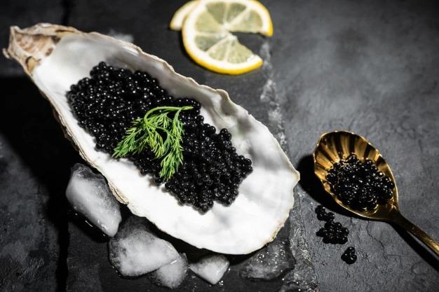 Trứng cá tầm Caviar rất giàu dinh dưỡng và vitamin