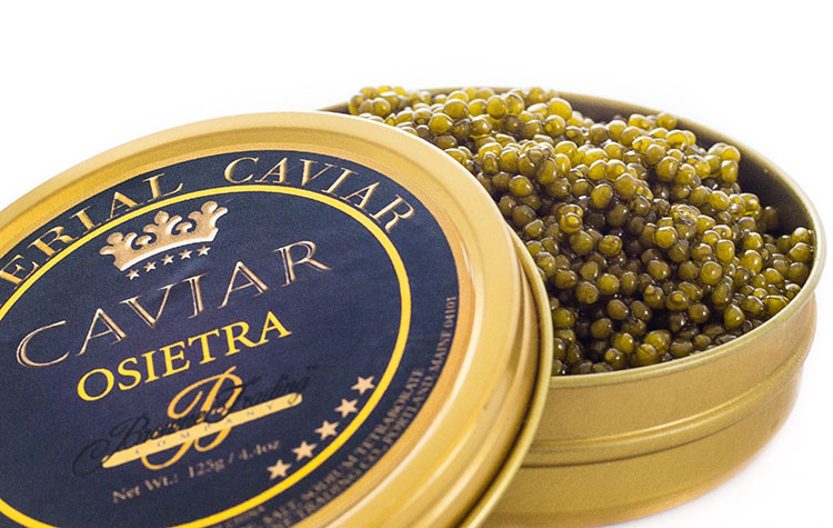 Trứng cá tầm Osetra Imperial Golden Caviar