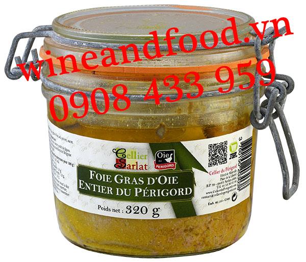 Pate gan Ngỗng Foie Gras D'oie Entier du Périgord Cellier Sarlat 320g